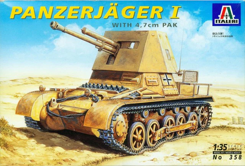 Italeri 1/35 Scale Panzerjäger I with 4,7 cm PAK - kit #358