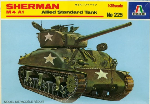 Italeri 1/35 Scale Sherman M4A1 Allied Standard Tank - kit #225
