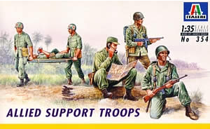 Italeri 1/35 Allied Support Troops - Kit #354