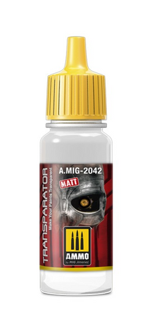 AMMO of Mig Jimenez TRANSPARATOR MATE 17 ML - AMIG2042 thinner for acrylics