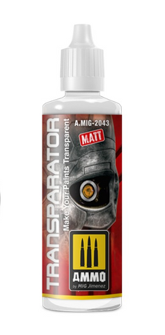 AMMO of Mig Jimenez TRANSPARATOR MATE 60 ML - AMIG2043 thinner for acrylics