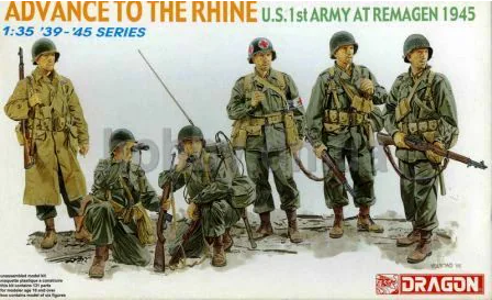 Dragon 1/35 Scale Advance To The Rhine U.S. 1st Army at Remagen 1945 - kit #6271