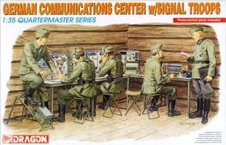 Dragon 1/35 Scale German Communications Center w/Signal Troops - Kit #3826