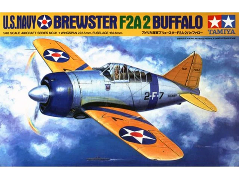Tamiya 1/48 Scale U.S.Navy Brewster F2A-2 Buffalo - Model Kit #61031