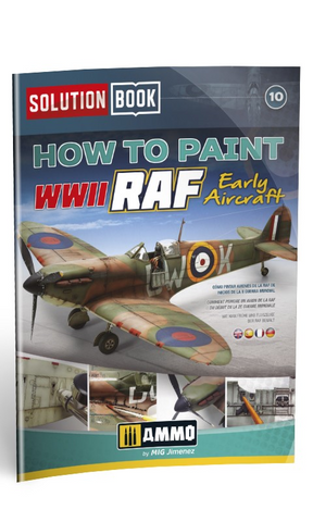 AMMO MiG Jimenez How To Paint WWII RAF Early Aircraft Solution Book AMIG6522