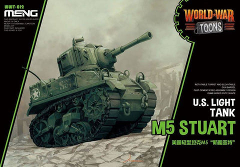 MENG World War Toons WWT-012 M5 Stuart U.S. Light Tank Kit