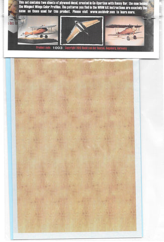 Uschi 1/72 1/48 1/32 Superfine Wood Grain Decal Albatross Ronny Bar Color #1003