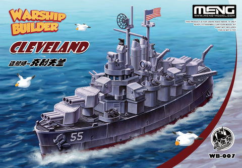 Meng Warship Builder Cleveland WB-007 - Quick and fun to build!