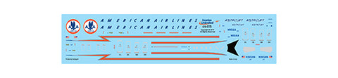 Fundekals 1/144 scale decals Boeing 737-823 American Airlines Astrojets - 44-015