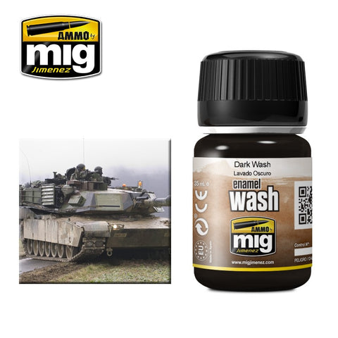 NATO Camouflages Dark Wash - 35ml jar - A.MIG-1008 Ammo Mig Jimenez