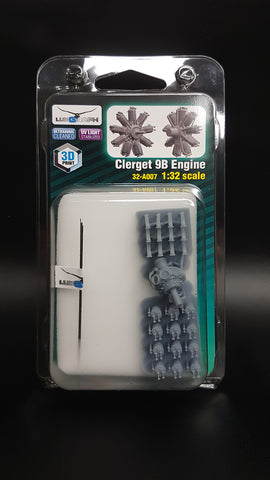 Lukgraph 1/32 scale resin Clerget 9B engine for Wingnut Wings 32-A007
