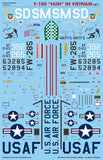 Caracal Models 1/48 decal F-100 IN VIETNAM PT 2 Monogram or Trumpeter CD48128