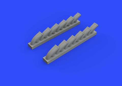 Eduard Brassin 1/48 Typhoon Mk.Ib exhaust stacks for Eduard or Hasegawa - 648414