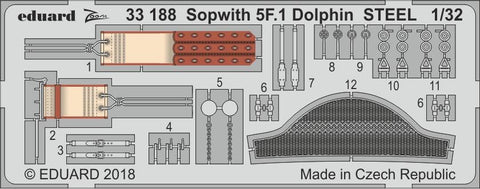 Eduard 1/32 Photoetch detail Sopwith 5F.1 Dolphin for Wingnut Wings - 33188