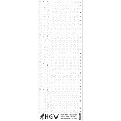 HGW 1/32 Access Templates Positive Rivets - #322018