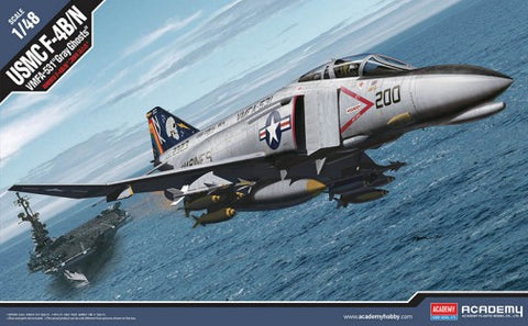 Academy 1/48 scale F4B/N VMFA531 Gray Ghosts USMC Fighter #12315 Model Kit
