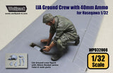 Wolfpack 1/32 resin IJA Crew w/40mm Ammo for Ki44-II Otsu for Hasegawa WPD32008