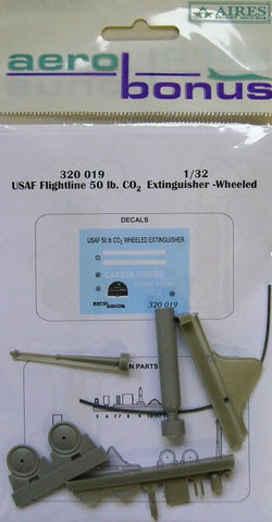 Aerobonus 1/32 USAF Flightline 50 lb CO2 extinguisher wheeled - 320019 by Aires