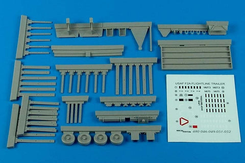 Aerobonus 1/48 USAF F-2A flightline trailer steel platform w/racks 480049 by Air