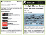 Airscale 1/32 Allied Cockpit Placards & Dataplates AS32PLA
