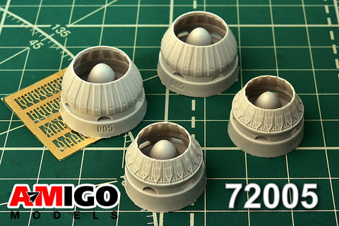 Advanced Modeling 1/72 RD-7M exhaust nozzle for Tu-22K Modelvist Tu-22KD