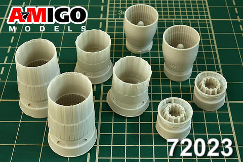 Advanced Modeling 1/72 AL-31F exhaust nozzles for Su-27 for Zvezda TRP HSG