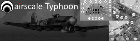Airscale 1/24 Cockpit Instrument Decals Hawker Typhoon Mk 1B - AS24TIFF