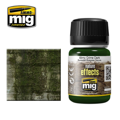 DARK SLIMY GRIME - AMIG-1410 Ammo by Mig Enamel type product for nature effects