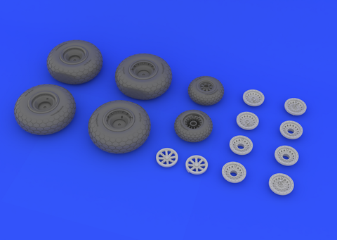 Eduard 1/48 Brassin B-29 wheels for Revell - 648132