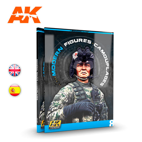 AK Interactive Learning Series 8 MODERN FIGURES CAMOUFLAGES - AK247