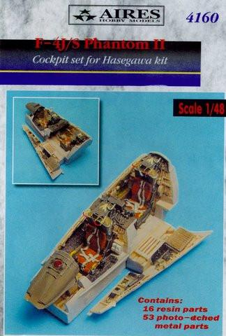 Aires 1/48 scale F-4J/S Phantom cockpit set for Hasegawa