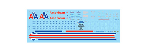 Fundekals 1/144 scale decals Boeing 737-823s American Airlines - 44-014