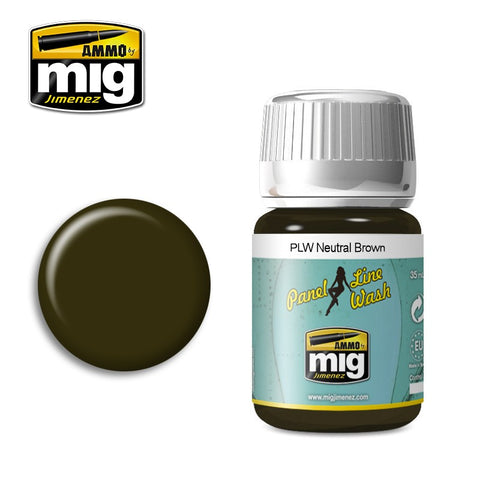 Panel Line Wash NEUTRAL BROWN AMIG-1614 Ammo by Mig Jimenez 35ml