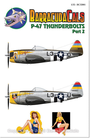 Barracuda Cals 1/32 P-47 Thunderbolts Part 2 BC32001