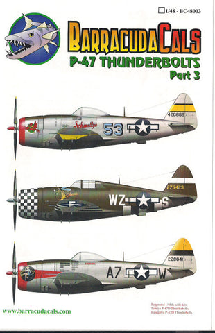 Barracuda Cals 1/48 P-47 Thunderbolts Part 3 BC48003