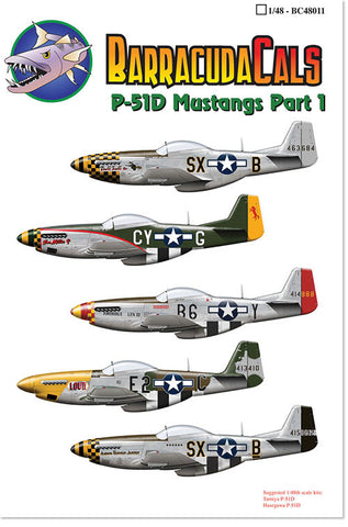 Barracuda Cals 1/48 P-51D Mustangs Part 1 - BC48011