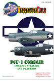 Barracuda Cals 1/32 F4U-1 Corsair Cockpit Stencils & Placards BC32129
