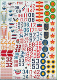 "Begemot 1/48 decals 48-005 Su-27 ""Flanker"" family (2)"