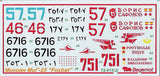 "1/72 Begemot decal MiG-25P ""Foxbat"" options for 23 markings - 72-15"