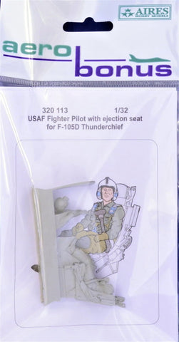 Aerobonus 1/32 resin USAF Pilot for F-105 with ejection seat 320113 - Trumpeter