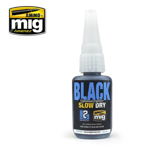 Ammo by MiG Jimenez BLACK SLOW DRY CYANOACRYLATE