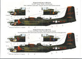 Bombshell 1/48 decal A-26 Invader Pt I Monogram & Revell Esquire Girls 48BS-0013