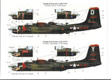 Bombshell 1/48 decal A-26 Invader Pt 3 Monogram & Revell 48-BS-0015