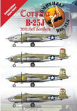Bombshell 1/72 decal Corsica B-25J Mitchells Bombers for Hasegawa 72-BS-0004
