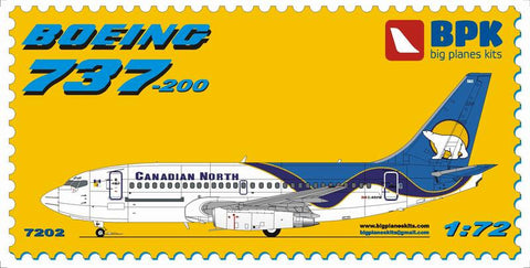 Big Planes Kits 1/72 Boeing 737-200 Canadian North Airlines BPK 7202