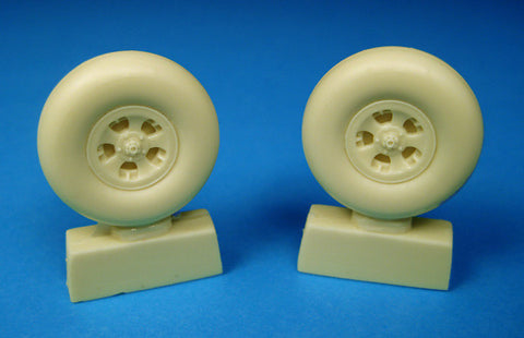 Barracuda Cast 1/32 resin Spitfire 5-Slot Mainwheels for Tamiya - BR32005