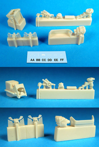 1/32 BarracudaCast Spitfire Cockpit Upgrade Set Part II BR32011