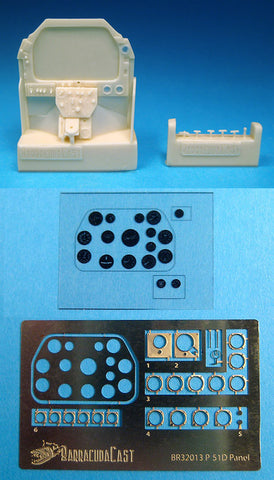 1/32 BarracudaCast P-51D Mustang Instrument Panel for Tamiya-BR32013