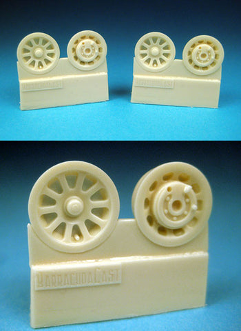 1/32 BarracudaCast P-51 Mustang Mainwheel Hubs for Tamiya kit BR32034