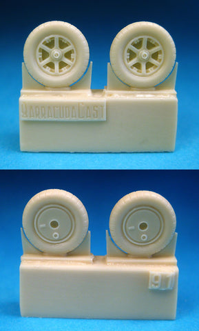 Barracuda Cast 1/72 resin Me 109B/C/D/E Mainwheels for Tamiya and more! BR72091